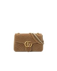 braune Wildleder Umhängetasche von Gucci