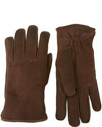 braune Wildlederhandschuhe