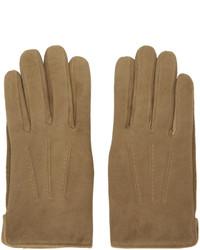 braune Wildlederhandschuhe von A.P.C.