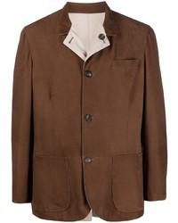 braune Shirtjacke aus Wildleder von Brunello Cucinelli