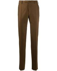 braune Wollanzughose von Incotex