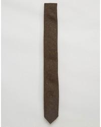 braune Wollkrawatte von Asos