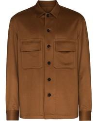 braune Wollshirtjacke von Ermenegildo Zegna