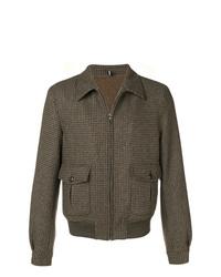 braune Wollshirtjacke von Lardini