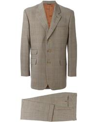 brauner Anzug mit Karomuster von Moschino