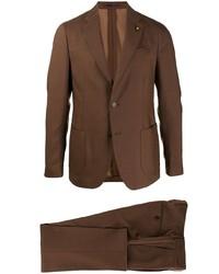 brauner Anzug von Lardini