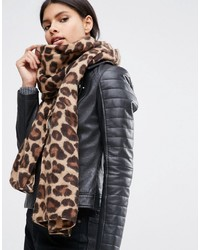 brauner bedruckter leichter Schal von Asos