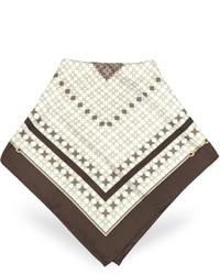 brauner bedruckter Schal