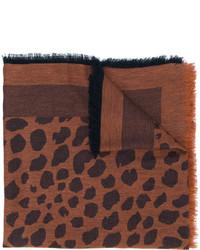 brauner bedruckter Schal von Paul Smith
