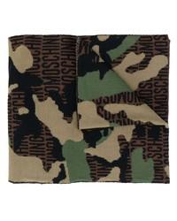 brauner Camouflage Schal von Moschino