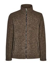 brauner Fleece-Pullover mit einem Reißverschluß von Killtec
