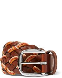 brauner geflochtener Ledergürtel von Etro