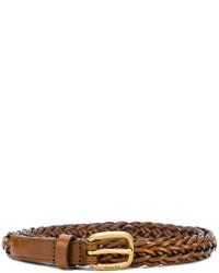 brauner geflochtener Ledergürtel von Gucci