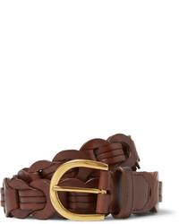 brauner geflochtener Ledergürtel von Tom Ford