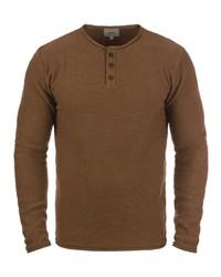 brauner Henley-Pullover von Redefined Rebel