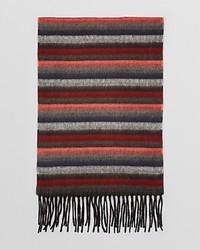 brauner horizontal gestreifter Schal