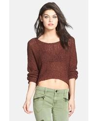 brauner kurzer Pullover