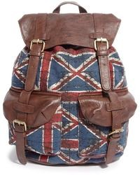 brauner Leder Rucksack von Asos