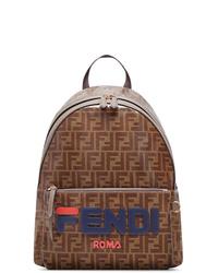 brauner Leder Rucksack von Fendi