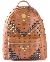 brauner Leder Rucksack von MCM