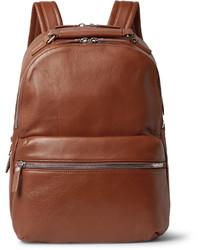 brauner Leder Rucksack von Shinola