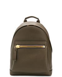brauner Leder Rucksack von Tom Ford