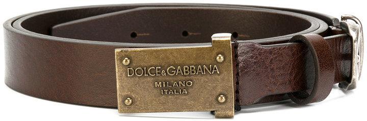 brauner Ledergürtel von Dolce & Gabbana