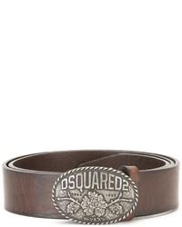 brauner Ledergürtel von DSQUARED2