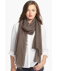 brauner leichter Schal