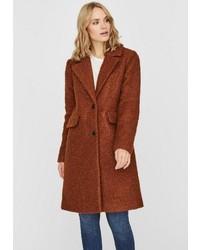 brauner Mantel aus Bouclé von Vero Moda
