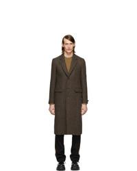 brauner Mantel mit Fischgrätenmuster von Burberry