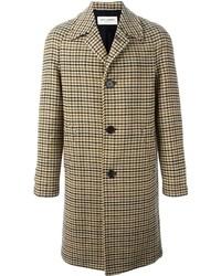 brauner Mantel mit Hahnentritt-Muster