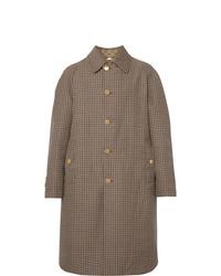 brauner Mantel mit Hahnentritt-Muster von Gucci
