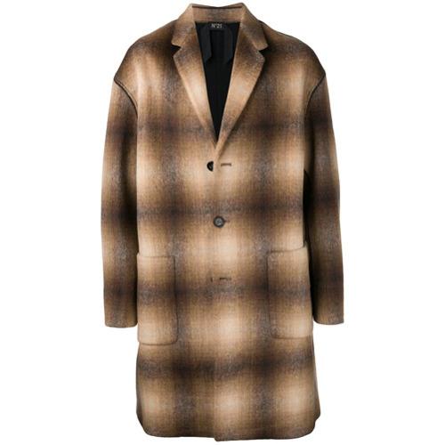 brauner Mantel mit Karomuster von N°21