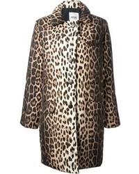 brauner Mantel mit Leopardenmuster von Moschino Cheap & Chic