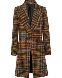 Brauner Mantel mit Schottenmuster