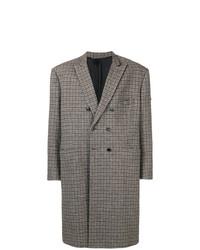 brauner Mantel mit Schottenmuster von Balenciaga