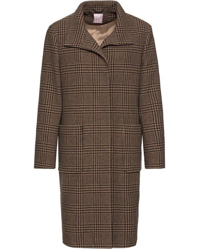 brauner Mantel mit Schottenmuster von Brigitte von Schönfels