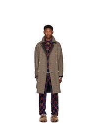 brauner Mantel mit Schottenmuster von Gucci