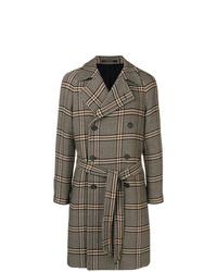 brauner Mantel mit Schottenmuster von Tagliatore