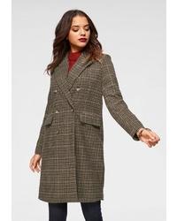 brauner Mantel mit Schottenmuster von Vero Moda