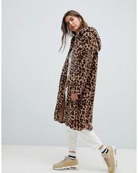 brauner Pelz mit Leopardenmuster von Daisy Street