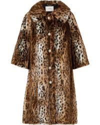 brauner Pelz mit Leopardenmuster von Erdem