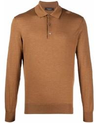brauner Polo Pullover von Ermenegildo Zegna