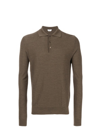 brauner Polo Pullover von Fashion Clinic Timeless