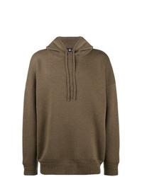 brauner Pullover mit einem Kapuze