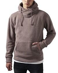 brauner Pullover mit einem Kapuze von Urban Classics