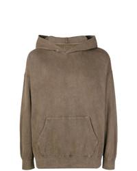 brauner Pullover mit einem Kapuze von VISVIM