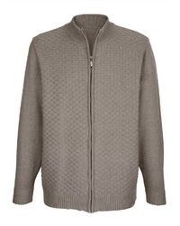 brauner Pullover mit einem Reißverschluß von ROGER KENT