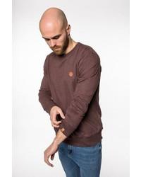 brauner Pullover mit einem Rundhalsausschnitt von Alife and Kickin
